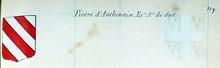VOLUMES RELIES du Cabinet des titres : recherches de noblesse, armoriaux, preuves, histoires généalogiques. Armorial général de France, dressé, en vertu de l'édit de 1696, parCharles D'HOZIER. (1697-1709). XIX Normandie, Alençon. page 119